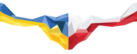 Abstract Ukraine Poland Flag