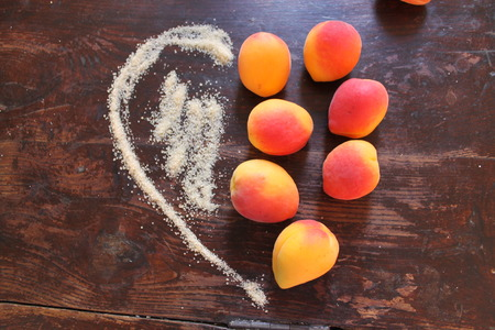 frugality: heart apricot