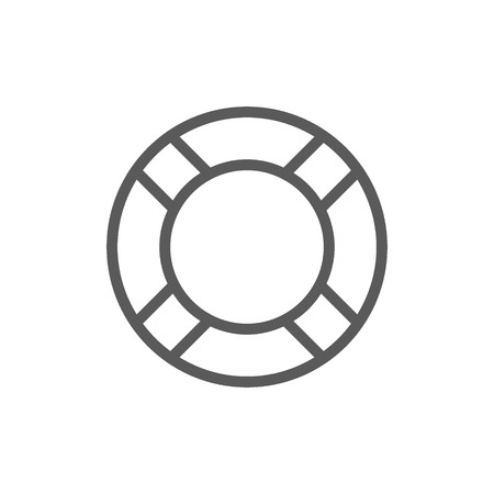 Vector lifebuoy line icon. Symbol and sign illustration design. Isolated on white background Stock Vector - 118039269