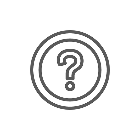 Vector frequently asked questions, faq line icon. Symbol and sign illustration design. Isolated on white background