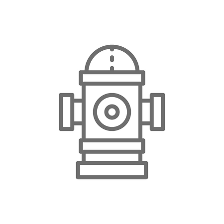 Vector fire hydrant line icon. Symbol and sign illustration design. Isolated on white background