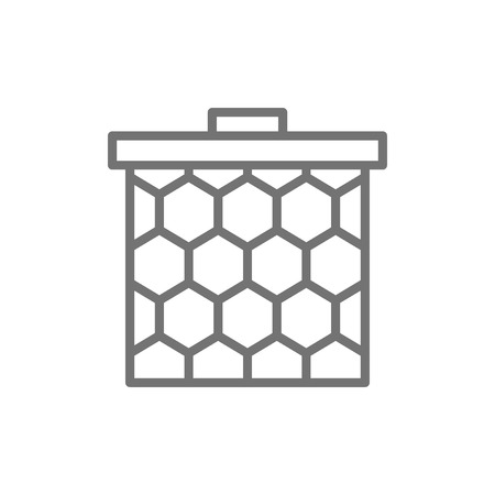 Vector honeycomb frame line icon. Symbol and sign illustration design. Isolated on white background