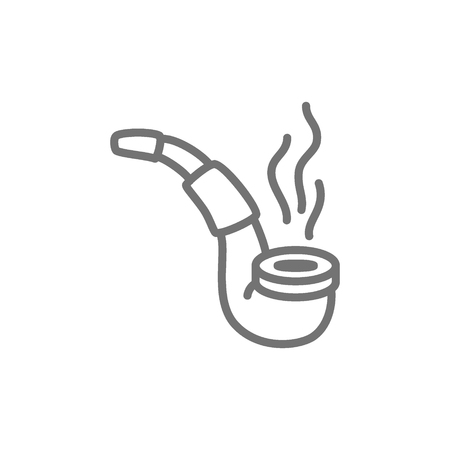 Vector smoking pipe line icon. Symbol and sign illustration design. Isolated on white background