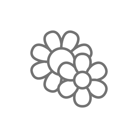 Field flowers line icon. Isolated on white background Stock Illustratie