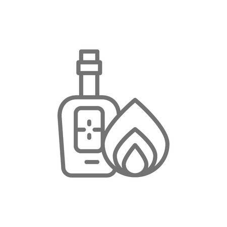 Vector bottle of tequila, alcohol line icon. Symbol and sign illustration design. Isolated on white background Illustration