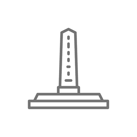Vector egyptian obelisks, ancient column line icon. Symbol and sign illustration design. Isolated on white background