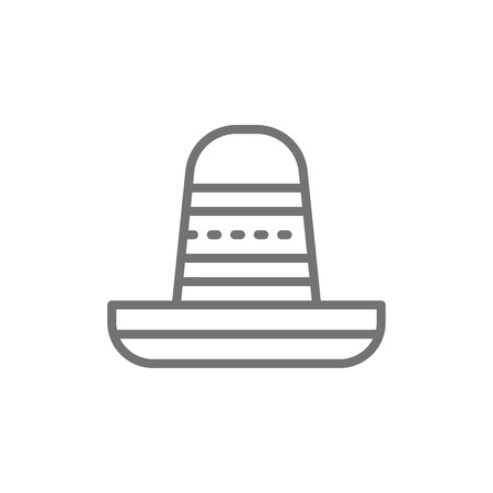 Vector sombrero, mexican hat line icon. Symbol and sign illustration design. Isolated on white background