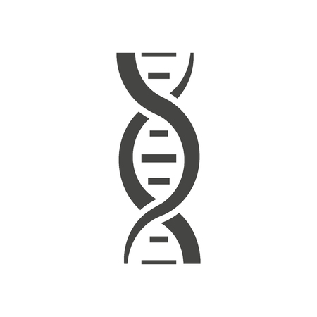 DNA helix silhouette. Isolated on white background