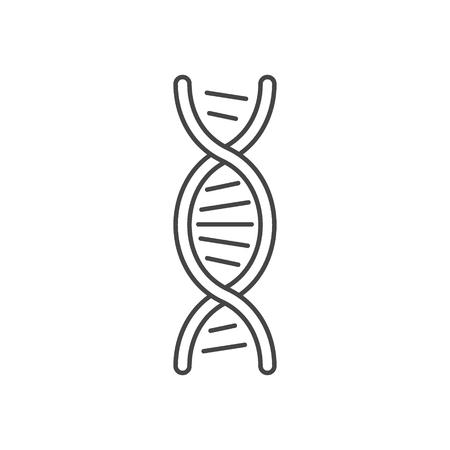 Símbolo de hélice de ADN. Aislado sobre fondo blanco. Ilustración de vector
