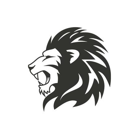 Heraldic lion logo design.