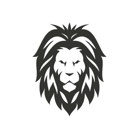 Vector lion black icon.