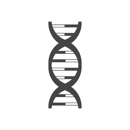 Vector DNA helix logo. Symbol and sign illustration design. Isolated on white background