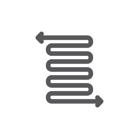 Detour, spring and flexibility line icon.