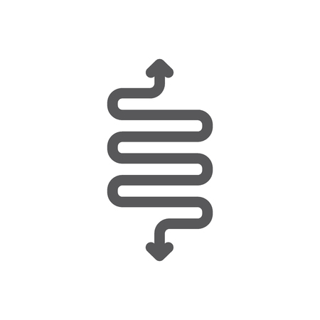 Vector spring, detour, flexibility line icon. Symbol and sign illustration design. Isolated on white background
