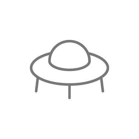 Vector ufo, spaceship line icon. Symbol and sign illustration design. Isolated on white background  イラスト・ベクター素材