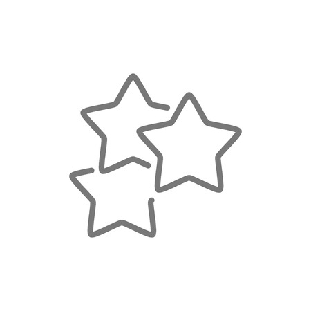 Vector stars, best choice, positive feedback line icon. Symbol and sign illustration design. Isolated on white background  イラスト・ベクター素材