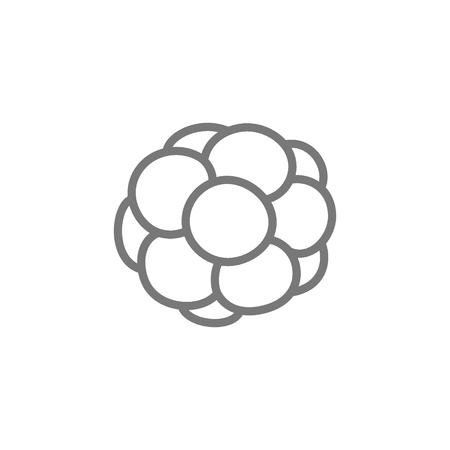 Vector cell, caviar, reptile egg line icon.