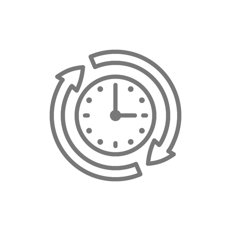 Vector available services, availability, 24 hours support line icon. Symbol and sign illustration design. Isolated on white background