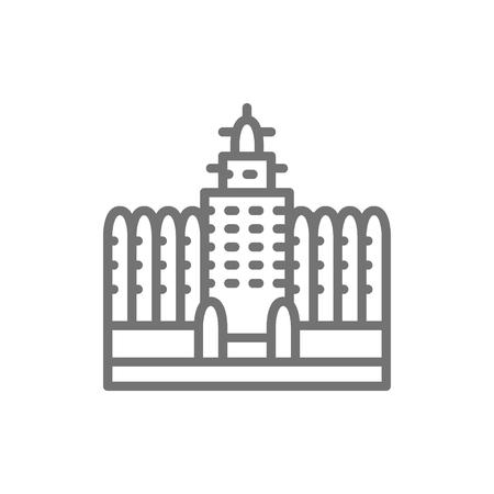Sudano Sahelian Architecture in Mali line icon. Stock Vector - 125654519