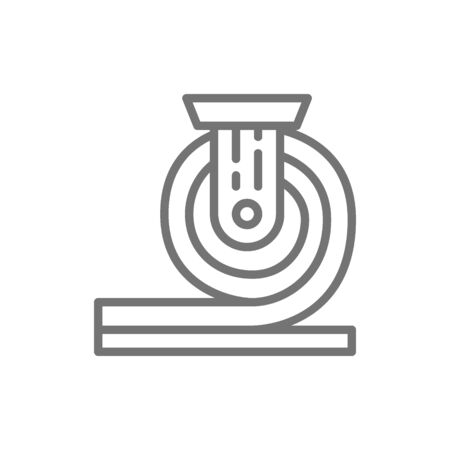Rolled metal, metallurgy line icon.