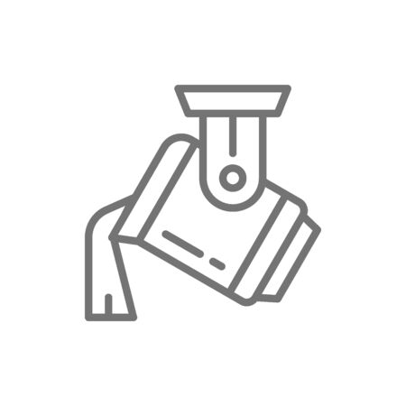 Casting metal, steel production, metallurgy line icon.