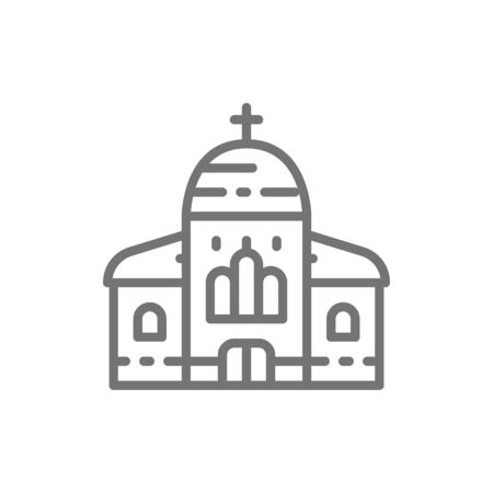 Church, cathedral line icon. Isolated on white background