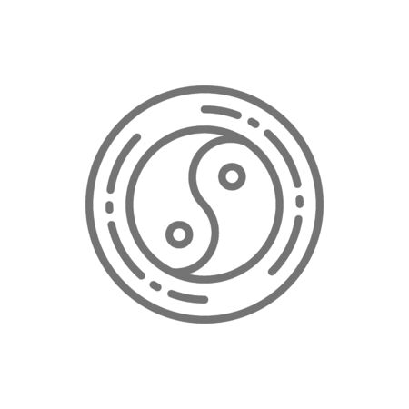 Yin yang sign, chinese symbol line icon. Stock Illustratie