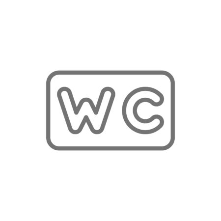 Vector WC sign, toilet line icon. Symbol and sign illustration design. Isolated on white background