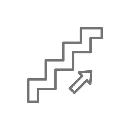 Vector stair up sign line icon. Symbol and sign illustration design. Isolated on white background  イラスト・ベクター素材