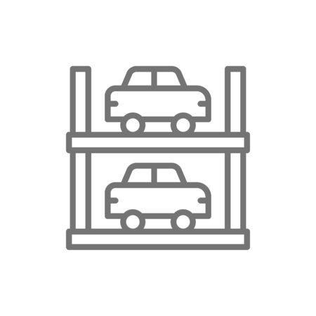 Two-story parking line icon. Isolated on white background  イラスト・ベクター素材