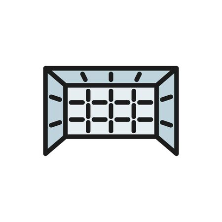 Vector game gate flat color icon. Symbol and sign illustration design. Isolated on white background Foto de archivo - 134835367