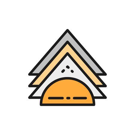Vector napkin holder flat color line icon. Symbol and sign illustration design. Isolated on white background Illusztráció