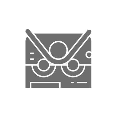 Pipe bending machine, bend machine gray icon. Vecteurs