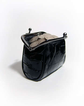 A photo of black women coin purse full of coins Stock Photo - 311116
