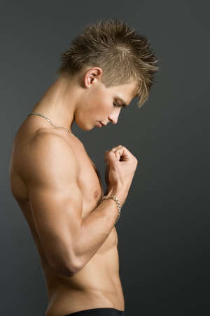 Handsome young man with athletic body