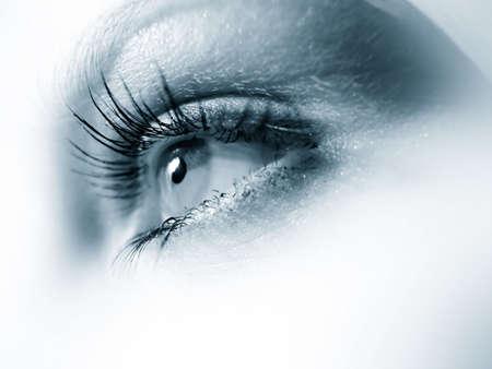 Blue woman's eye. Very sharp image. Stock Photo - 2377487