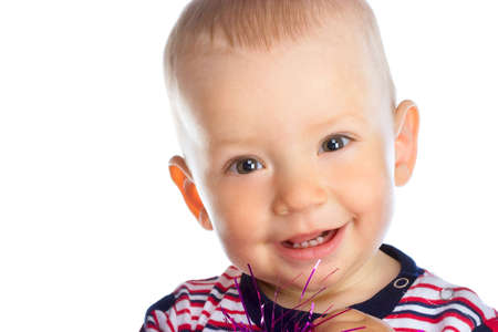 Adorable little child with surprised happy face Stock Photo - 2377493