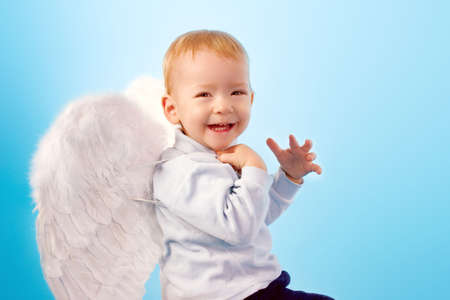 Happy laughing angel photo