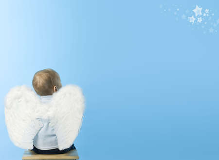 only boys: Lonely Dreaming Angel  Stock Photo