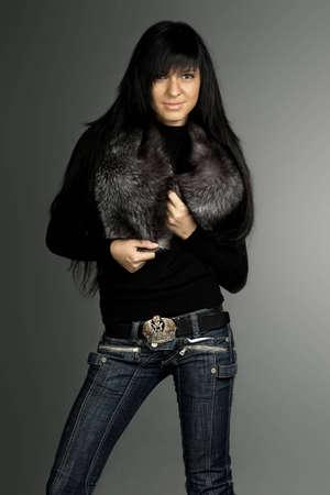 Fashionable brunette  photo