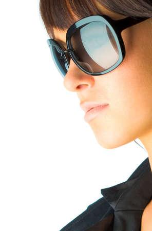 Woman in sun glasses. Fashion portrait Stock Photo - 2486922