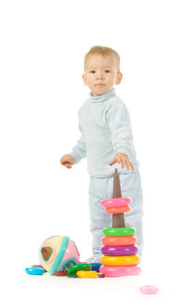 babie: Little child with toys