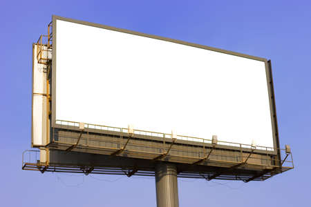 Modern advertising billboard Stock Photo