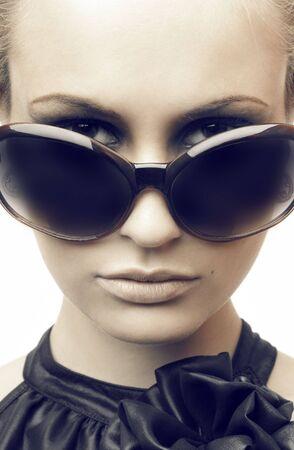 Woman in sun glasses. Fashion portrait Stock Photo - 5290905