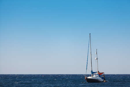 small boat: Yacht in the sea, Miditerranian sea, Greece