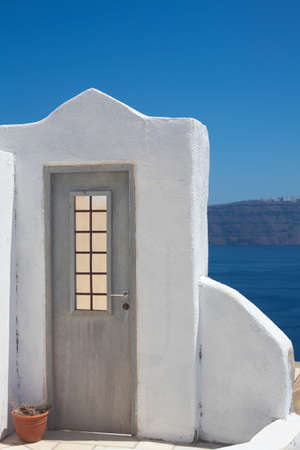 sea of houses: The door to nowhere, Santorini island, Greece