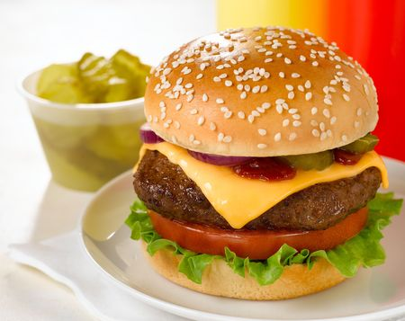Thick Juicy Cheeseburger Deluxe