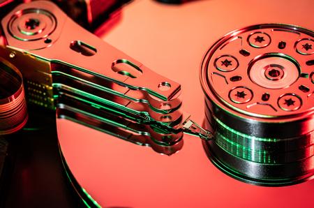 Hard rive disc, close up Stock fotó