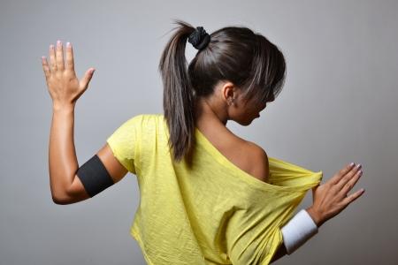 beautiful fitness woman, studio shot photo