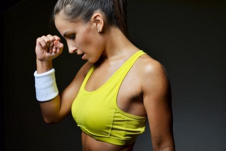 Fitness-Frau, Studioaufnahme